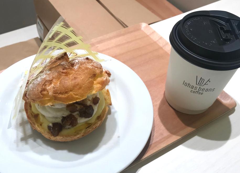 サンモリッツ名古屋エスカ店 シュークリーム コーヒー